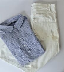 LOT - Zara košulja i bijele hlače