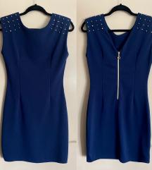 Plava haljina sa zakovicama