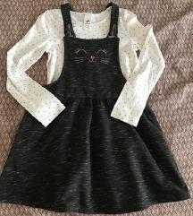 C&A lot haljina i majica, 140