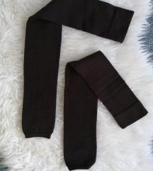 NOVE čarpe bez stopala i gaćica tamno smeđe M