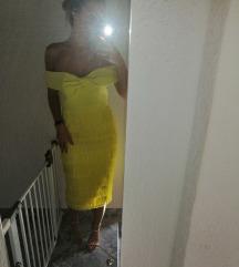 Žuta haljina s resicama