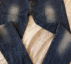 Jeans traperice, tigrasti uzorak, NOVO!