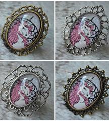 Prsten ''Pink unicorn'' (ručni rad)