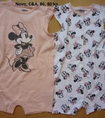 C&A Disney Minnie Mouse romper, 2 kom.,12-18 mj.
