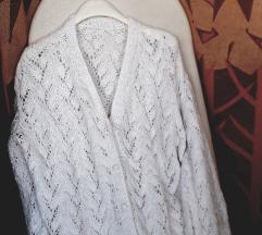 BY Almensita UNIKAT novi bijeli pamučni pulover L