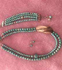 Komplet narukvica, ogrlica i naušnice