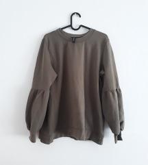 Maslinasto zelena sweater majica