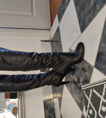 Kožne čizme do koljena