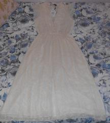 Zara vezena midi haljina nova s etiketom,Tisak uk.