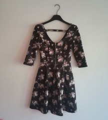 Bershka skater floral dress