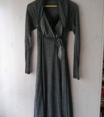 Siste's siva midi haljina SNIŽENO