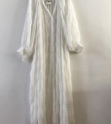 Zara haljina kosulja maxi pareo