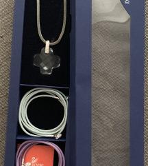 Swarovski lancic sa dodatnim konopima