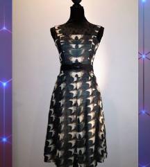 Midi haljina MANGO + remen, vel S 36