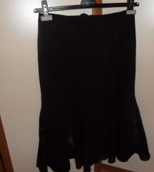 midi cna suknja, kao nova