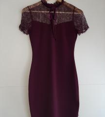 Uska bordo haljina
