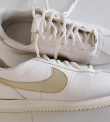 Nike cortez bijelo zlatne