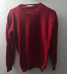 Vuneni crveni pulover M