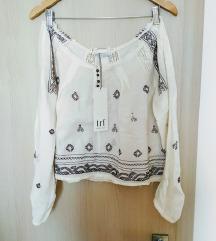 Zara nova embroidery bluza