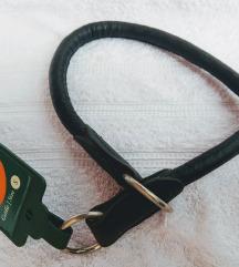 Ogrlica za dresuru od jelenje kože, crna