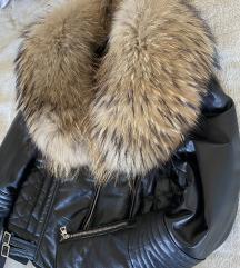 Kozna jakna s pravim bogatim krznom