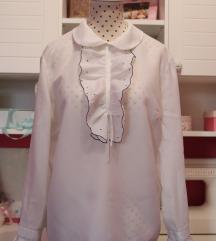 Bijela vintage košulja sa točkastim detaljima