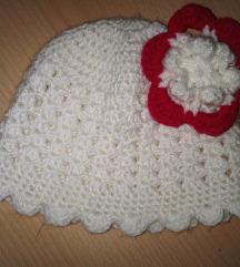 Topla pletena kapa za curice 2-3 godine