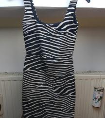 uska zebrasta H&M haljina