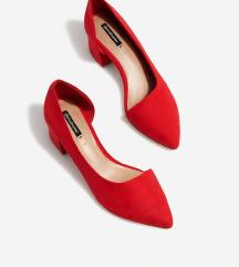 Crvene asimetricne cipele