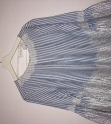zara prugasta plavo bijela bluza