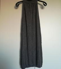 Siva dolčevita haljina