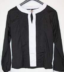Crno bijela košuljica/bluza sa mašnicom!!!