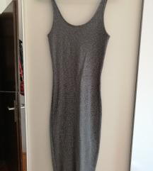 Udobna rastezljiva haljina, sa srebrnim nitima