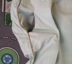 Zara mint hlače sa zlatnom crtom