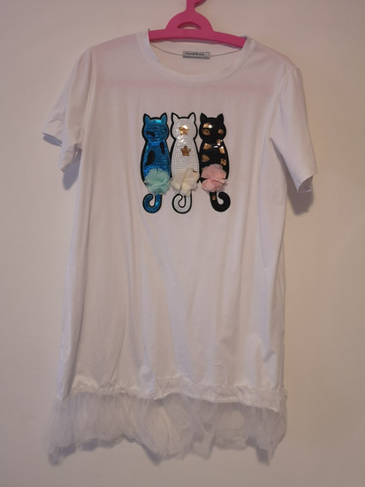 Duga t-shirt bijela majica