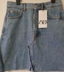 Zara jeans suknja s etiketom