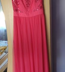 Ružičasta svečana duga haljina