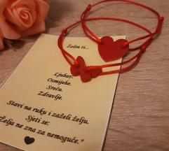 Narukvica srce i leptir