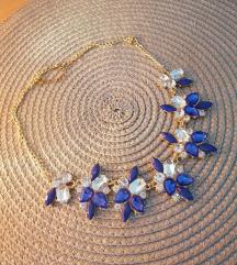 Ogrlica sa plavim cirkonima