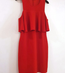 ZARA mini crvena haljina s volanom