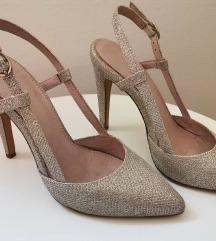 Zlatno-srebrne cipele Next