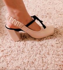Zara Studio Cipele Salonke Štikle Nude