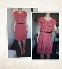 Roza točkasta haljina, vel. S (36)