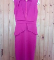Midi roza haljina