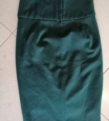 smaragdno zelena suknja