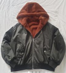 Zara nova obostrana krznena bomber jakna