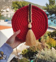 Handmade crvena torbica...