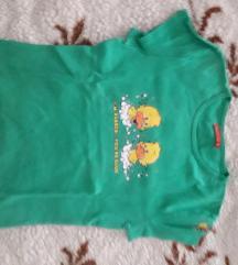 Zelena majica s patkicama
