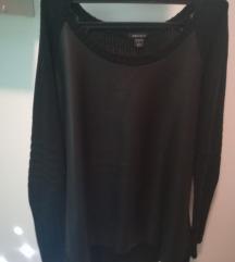 Amisu majica L sa kožnim umetkom
