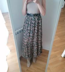 Zara cvjetna suknja s remenom